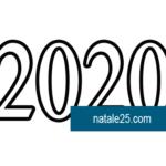 Numero 2020 da colorare