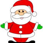 Babbo Natale a colori per bambini