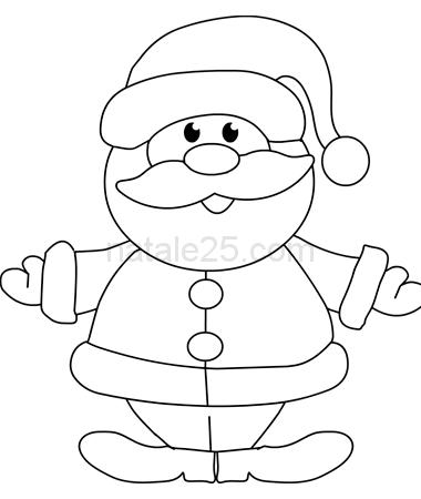 Bambini Babbo Natale Disegno.Babbo Natale Felice Da Colorare Natale 25