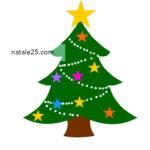 Albero di Natale con stelle colorate