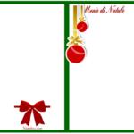 Menù natalizio da scaricare gratis