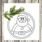 Pallina natalizia di carta con Babbo Natale