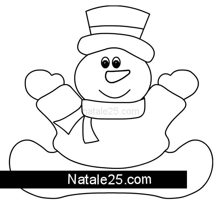 Pupazzo Di Neve Seduto Da Ritagliare Natale 25