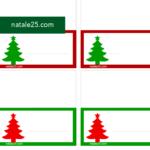 4 segnaposti di Natale da stampare