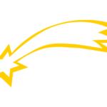 Stella cometa gialla da stampare