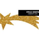 Stella cometa glitter da ritagliare