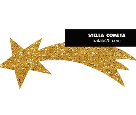 Stella cometa glitter da ritagliare   Natale 25