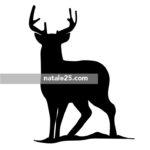 Silhouette di cervo da stampare