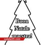 Auguri di Buon Natale per maestra