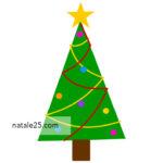 Albero di Natale stilizzato da stampare