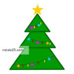 Albero di Natale con palline colorate