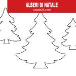 3 sagome di alberi di Natale