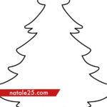 Sagoma albero di Natale