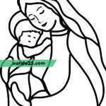 Madonna con bambino disegno