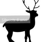 Silhouette di cervo da ritagliare