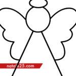 Sagoma angelo di Natale da stampare