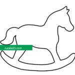Sagoma di cavallo a dondolo