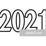 Numero 2021 da colorare