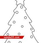 Albero con palline di Natale da colorare