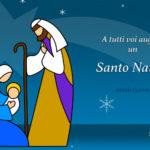 Auguri di Buon Natale 2020 con natività