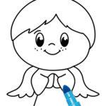 Disegno di angelo da colorare