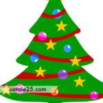 Albero di Natale con stelle e palline