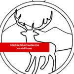 Decorazione natalizia: pallina con renna